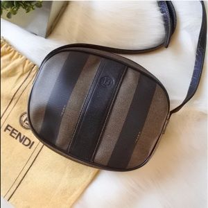 Fendi Pequin Stripe Small Crossbody bag